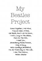 CD - Michael Welch My Beatles Project