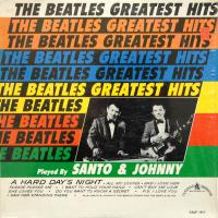 LP - Santo & Johnny The Beatles greatest hits