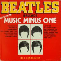 LP - Full Orchestra Beatles Ballads Music Minus One  (Orchestra)