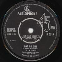 SINGLE - Cilla Black A fool am I / For no one