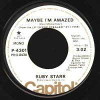 SINGLE - Ruby Starr Maybe I'm amazed MONO/STEREO PROMO