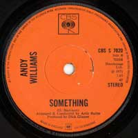 SINGLE - Andy Williams Something