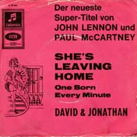 SINGLE - David & Jonathan She's leaving home