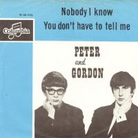 Peter & Gordon, Nobody I know, Dutch single
