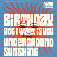 SINGLE - Underground Sunshine Birthday