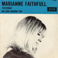 SINGLE - Marianne Faithfull Yesterday     (Blue text band)