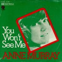 SINGLE - Anne Murray You won't see me  - german promo-info