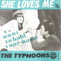 SINGLE - Typhoons She loves you / I want to hold your hand