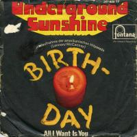 SINGLE - Undergound Sunshine Birthday